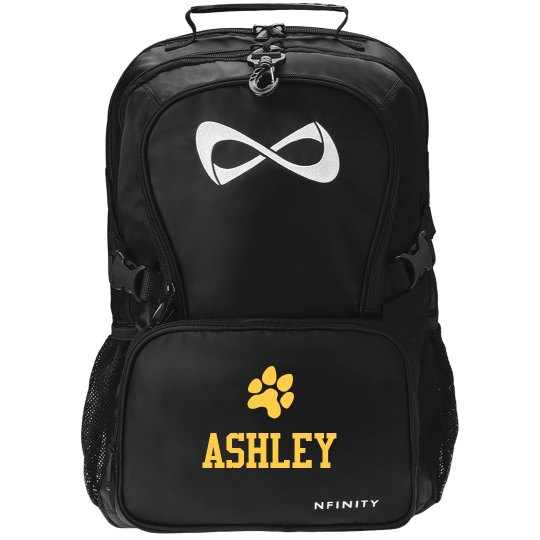 Custom School Sports Fan Paw Black Nfinity Bag
