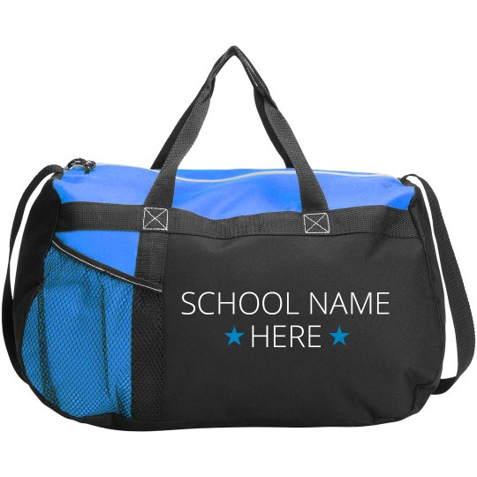 Custom School Star Duffel Bag