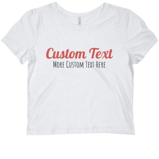 Custom Script Text Crop
