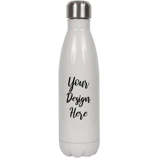 Custom Script Text Water Bottle