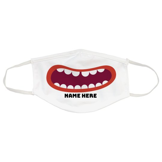 Custom Silly Mouth Face Mask