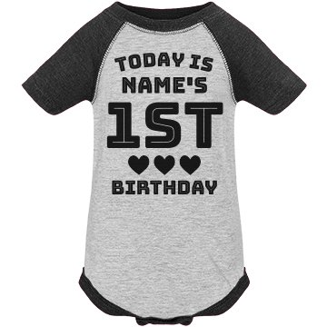Custom Silver Metallic 1st Birthday Party