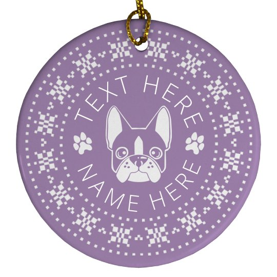 Custom Snowflake Dog Gift