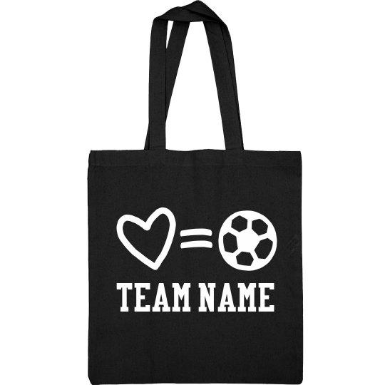 Custom Soccer Love Life Bag