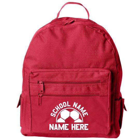 Custom Soccer School Backpack