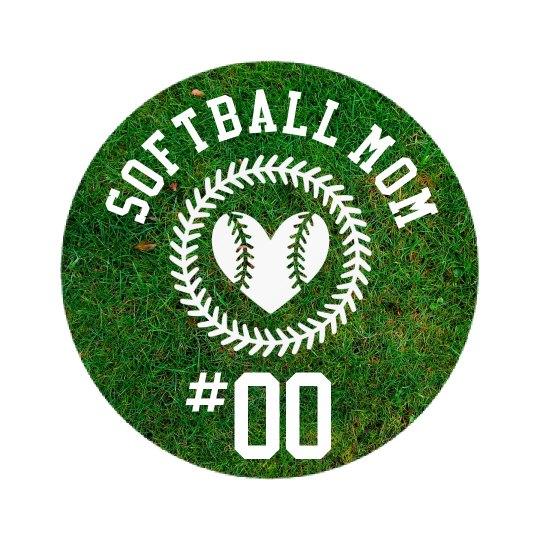 Custom Softball Mom Brag Badge