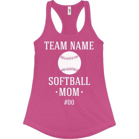 Custom Softball Mom Fan