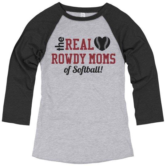 Custom Softball Mom Trendy Raglan Tee
