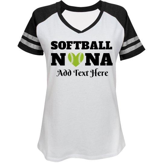 Custom Softball Nana Fan