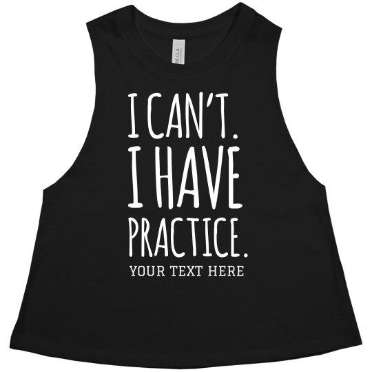 Custom Softball Practice Girl
