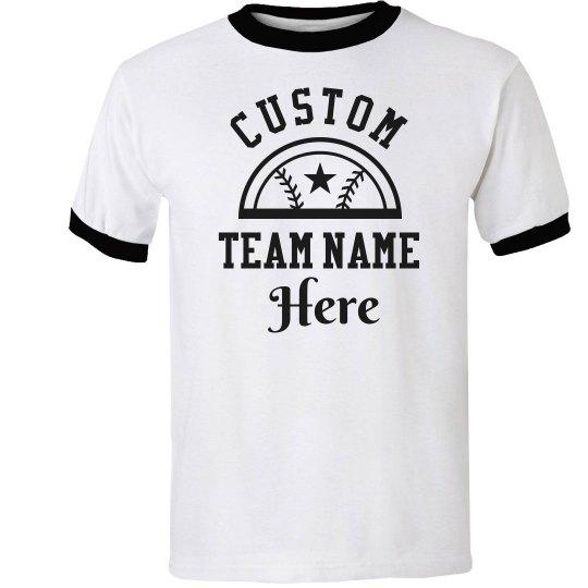 Custom Softball Team Add Name/Number
