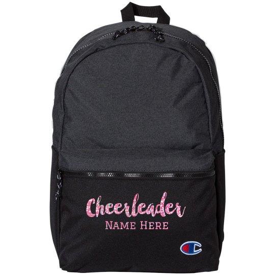 Custom Sparkle Text Cheerleader