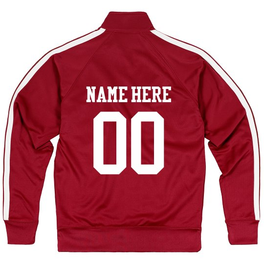 Custom Sport Team & Number Zip Jacket