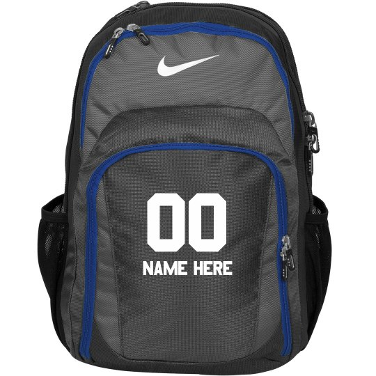 Custom Sports Name & Number Backbpack