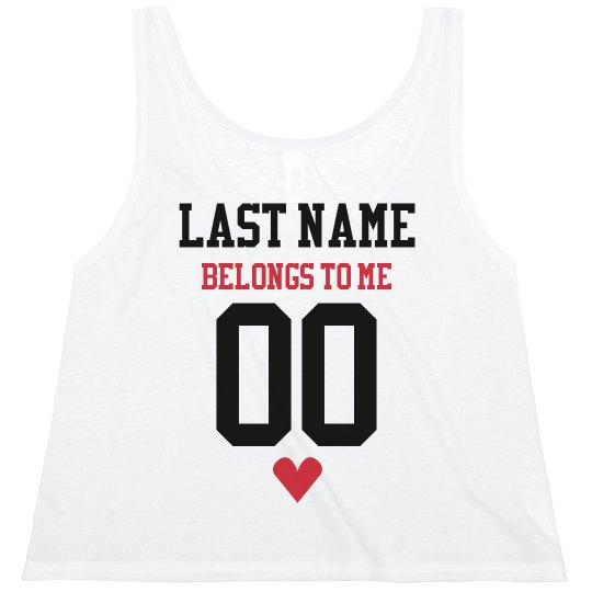 Custom Sports Name & Number Belongs to Me