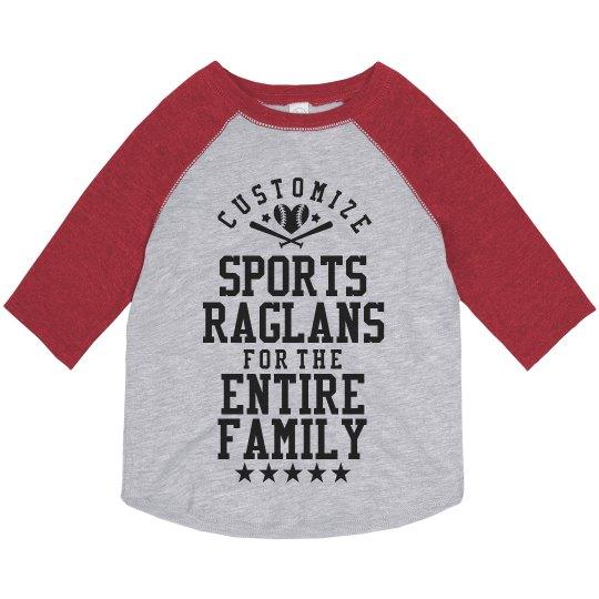 Custom Sports Raglans for Toddler