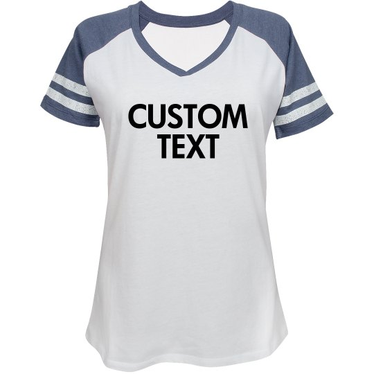 Custom Sporty V-Neck Tee