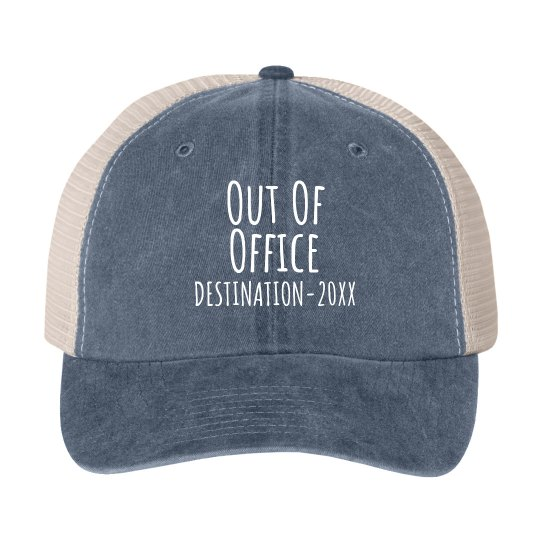 Custom Spring Break Out Of Office Vacation Hat