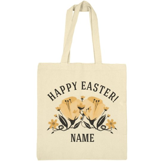 Custom Spring Floral Easter Bag
