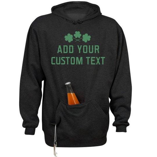 Custom St Patricks Day Shamrock Hoodie