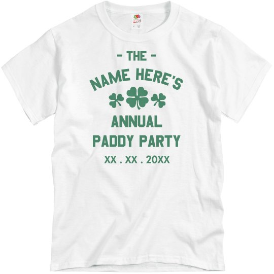 Custom St. Patty's Party Design