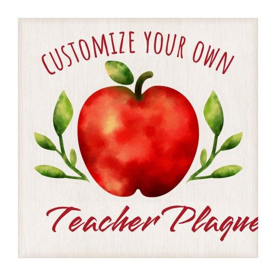Custom Teacher Apple Wall Hanging