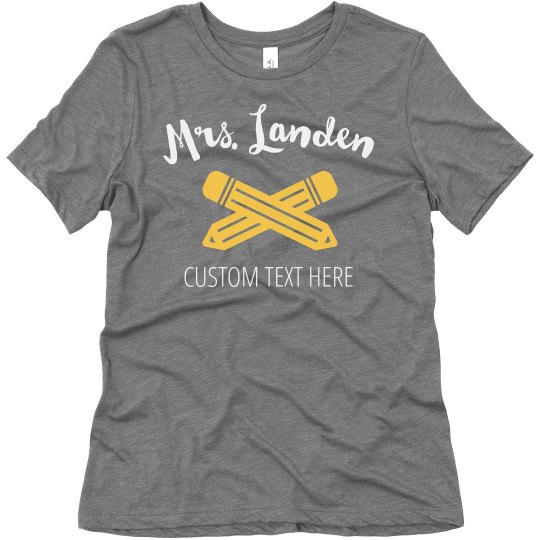 Custom Teacher Back to School Shirts