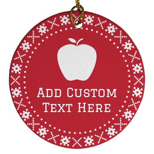 Custom Teacher Christmas Gifts