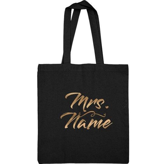 Custom Teacher Name In Gold