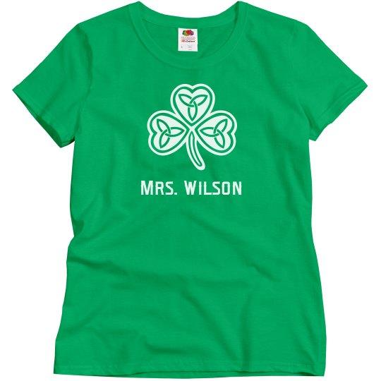 Custom Teacher St. Patrick's Day