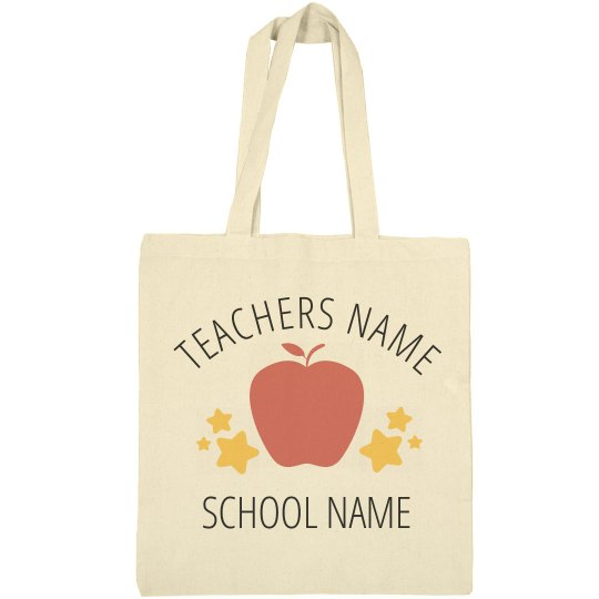 Custom Teacher Tote Bag Gift