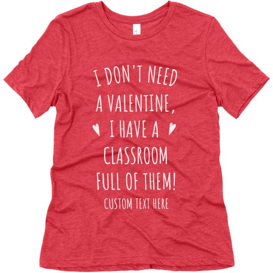 Custom Teacher Valentine's Day Tee