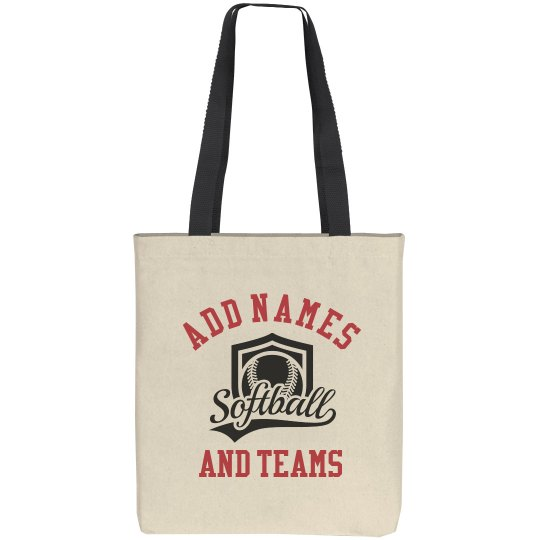 Custom Team & Name Tote Bag