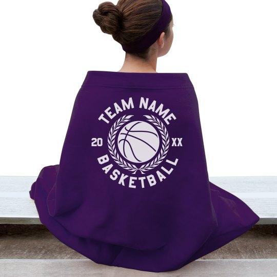 Custom Team Basketball Blanket