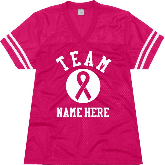 Custom Team Breast Cancer Jersey