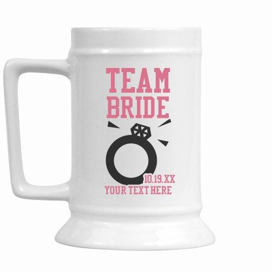Custom Team Bride Stein
