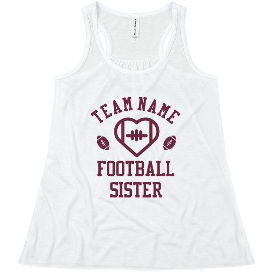 Custom Team Cute Football Sister