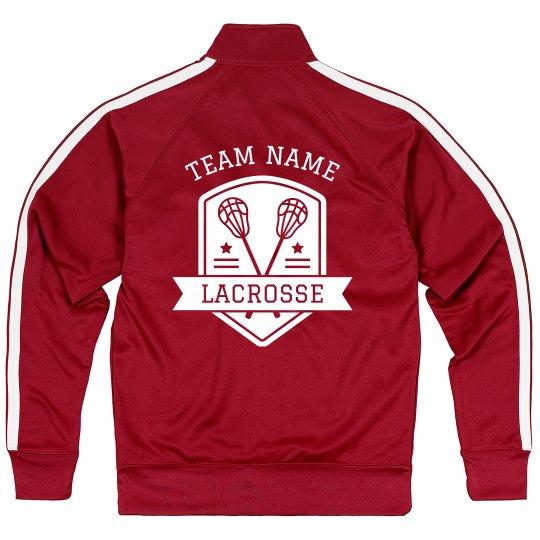 Custom Team Lacrosse Sport Zip Jacket