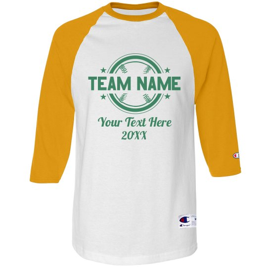 Custom Team Name & Text Baseball