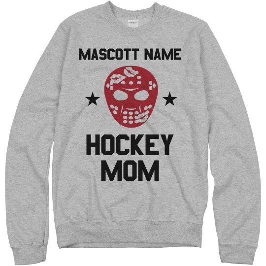 Custom Team Name Hockey Mom