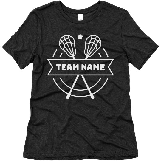 Custom Team Name Lacrosse Sporty Triblend Tee