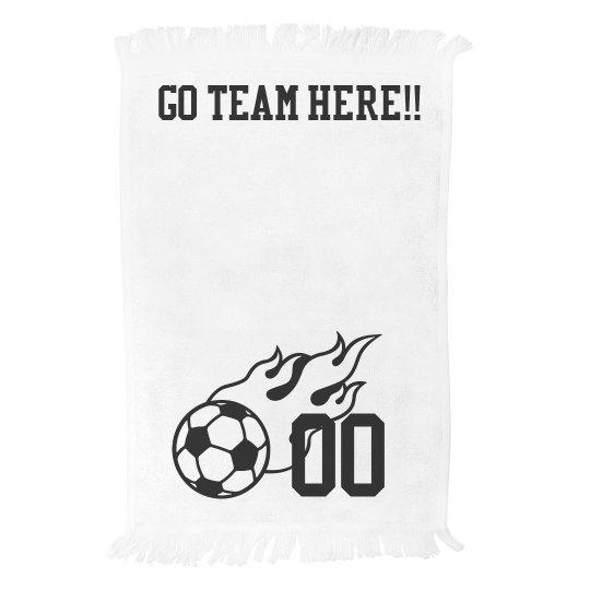 Custom Team Name Number Spirit Towel