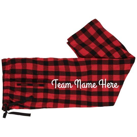 Custom Team Name Plaid Jammies