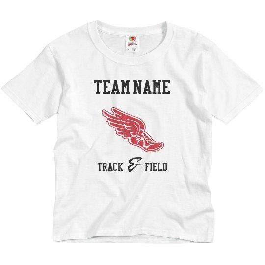 Custom Team Name Track And Field Kids