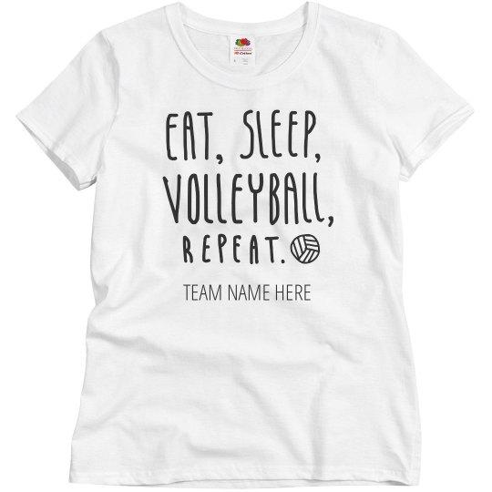 Custom Team Name Volleyball Tee