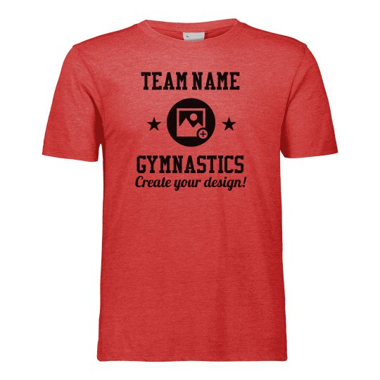 Custom Team Name Your Design Gymnastics T-Shirt