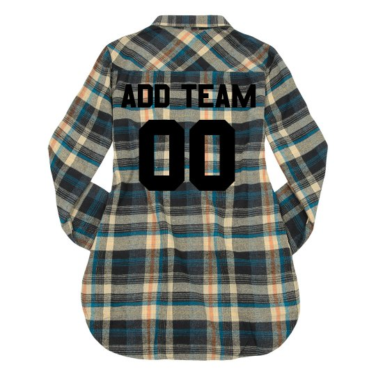 Custom Team Name/Colors Flannel