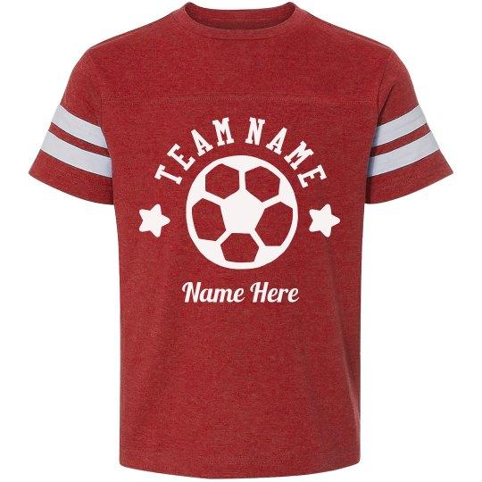 Custom Team Soccer Tee Youth Vintage Sports T Shirt