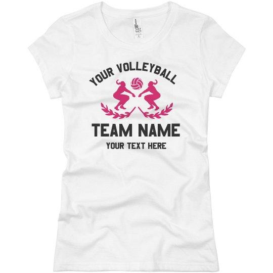 Custom Team Volleyball Text