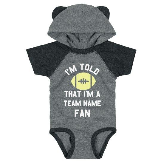 Custom Text & Art Baby Bodysuit Sports Fan